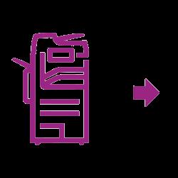 Icône violette Alatalink