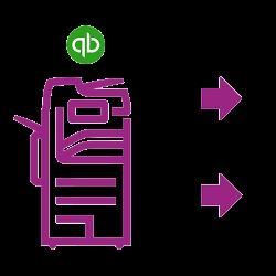 Icône violette altalink Quickbooks